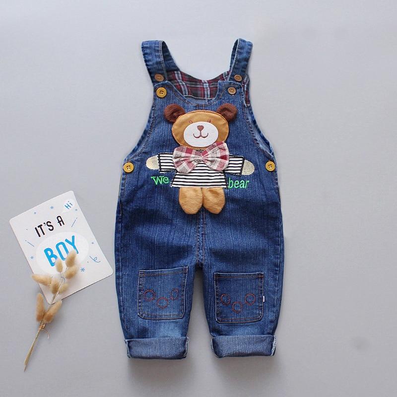 IENENS Kids Baby Boy Jeans Denim Clothing Boys Cartoon Trousers Long Pants