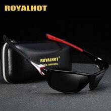 Royalhot Mannen Vrouwen Gepolariseerde Cool Sport Zonnebril Vintage Zonnebril Retro Brillen Tinten Oculos Mannelijke 900216