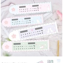Ruler Calculator Folding Creative Stationery A-Number-Of-Models Germination Cartoon-Shape
