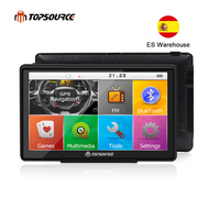 TOPSOURCE 7 inch HD Car GPS Navigation WinCE 6.0 FM 8GB Vehicle Truck GPS Sat Nav Free Map Update Russia/USA/Spain/France