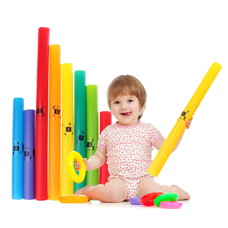 1 Pack Colorful Music Tuned 8-notes Percussion Stringed Instrument Tubes C Major Diatonic Scale Set C' D E F G A B C Parts Accs