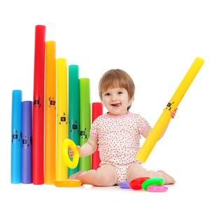 Image 1 - 1 paczka kolorowe muzyka dostrojony 8 zauważa instrumenty perkusyjne instrument strunowy rury C Major diatoniczna skali zestaw C D E F G A B C części acc