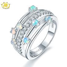 Hutang кольца с натуральным драгоценным камнем и опалом, серебро 925 пробы, обручальное кольцо , хорошее ювелирное изделие, элегантный дизайн для женщин, подарок, новое поступление