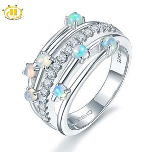 Image 1 - Hutang кольца с натуральным драгоценным камнем и опалом, серебро 925 пробы, обручальное кольцо , хорошее ювелирное изделие, элегантный дизайн для женщин, подарок, новое поступление