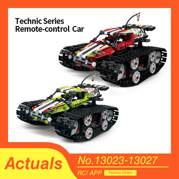 цена на Technic Series Compatible lepins 42065 The RC Track Remote-control Race Car Set Building Blocks Bricks Educational Toys Gifts