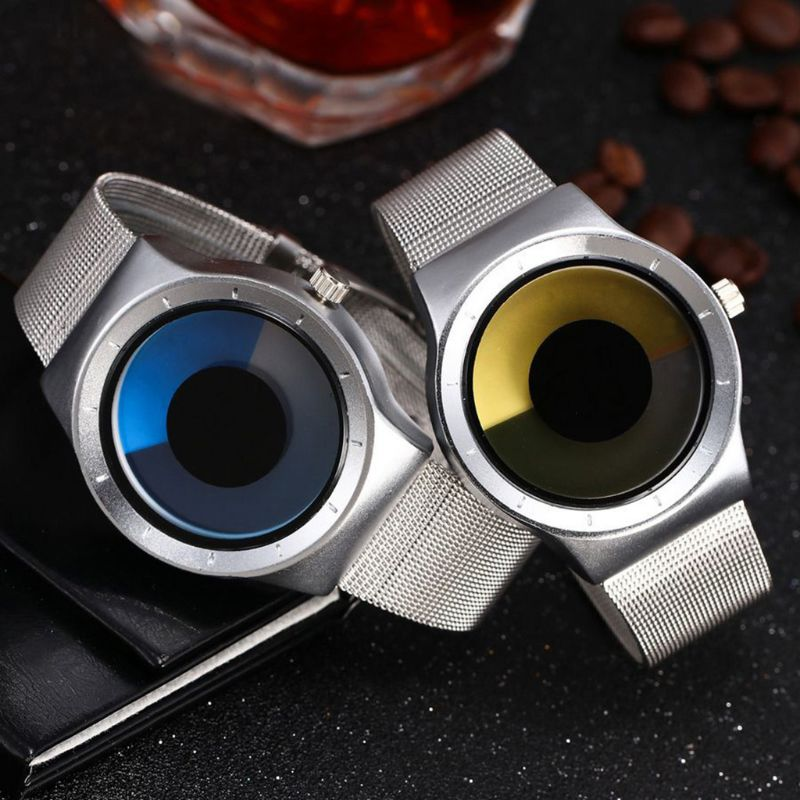 Creative Swirl Pointerless Watch Luminous Simple Unisex Student Waterproof Fashion Trend Watch