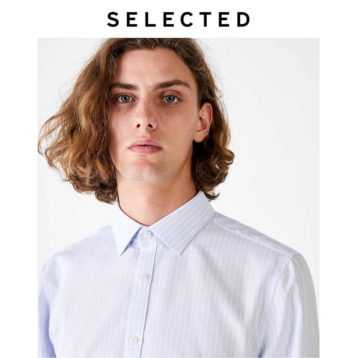 選択された男性の綿100% の正規スリムフィットビジネス長袖シャツt | 419305576