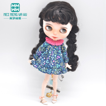 Fits Blyth Azone OB23 OB24 1/6 doll accessories Fashion retro dress, high heels Girl's gift image