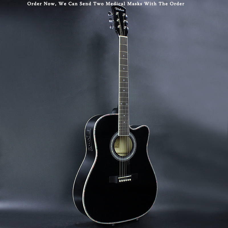 41 Inch Guitar 6 String Folk Pop Guitar Pickup Electric Acoustic Guitar Solid Wood Guitarra Professional Guitar AGT62