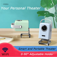 LED 3D Mini Projector Supports 1080P HDMI USB Audio Portable Projector Home Media Video Player Portable Pocket