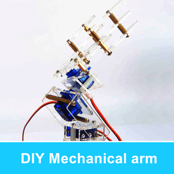 DIY Teaching Kit 4 DOF 3D Rotating Robot Arm Robot Claw Mechanical arm RC Toys
