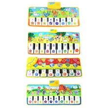 4 estilos tapete musical com voz animal piano do bebê jogando tapete instrumento de jogo música brinquedos educativos cedo para crianças presente