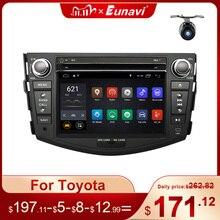 Eunavi 2 din Android 10 TDA7851 car radio dvd multimedia for Toyota RAV4 Rav 4 2007 2008 2009 2010 2011 headunit gps stereo DSP