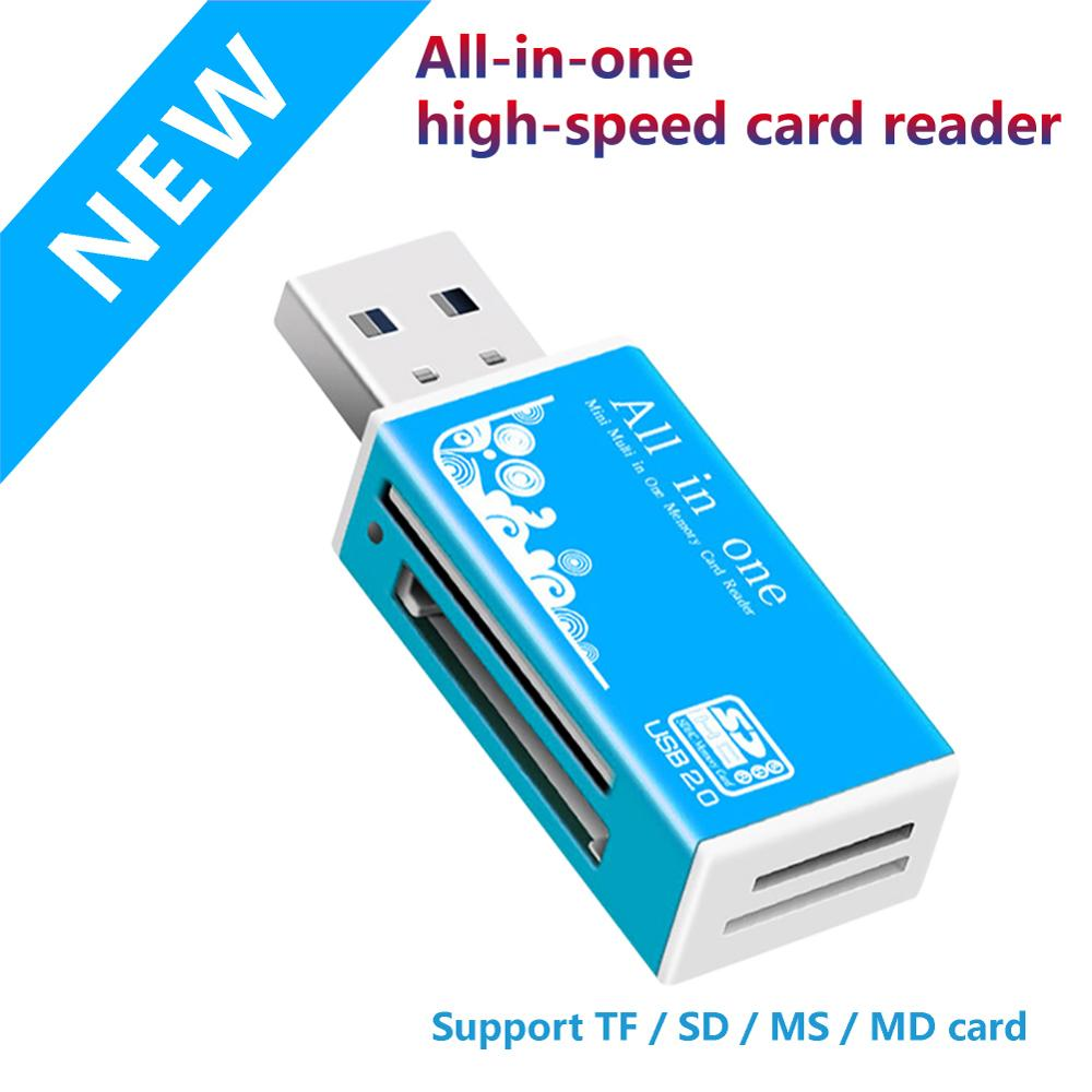 Wholesale Smart All In One USB 2.0 Multi Memory Card Reader For Micro SD / TF M2 MMC SDHC MS Duo