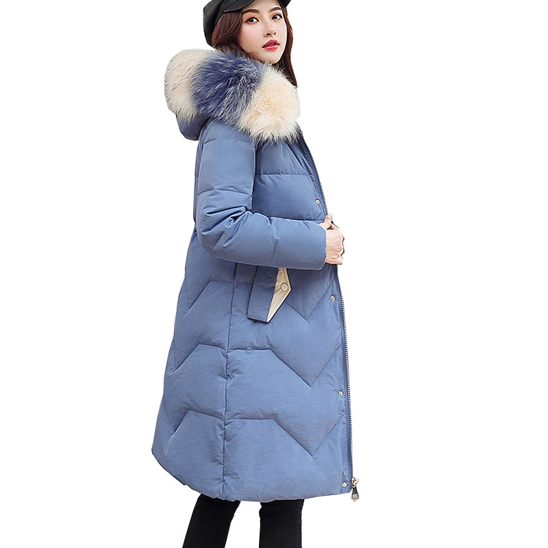 2019 New Autumn Winter Medium Length Women Parka Solid Zipper Long Sleeve Hooded Thick Outwear Coat Jacket Fashion Cotton
