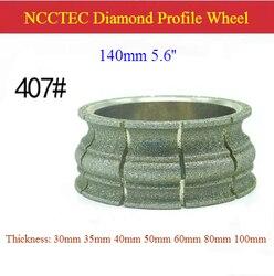 [407 #] 5.6 ''140 Mm Diamond Galvaniseren/Gesoldeerde Stenen Tafel Rand Grindind Profiel Wiel | Marmer quartz Profilering Schurende