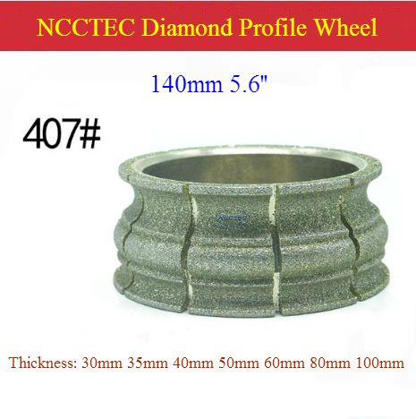 [407#] 5.6'' 140mm Diamond Electroplate / Brazed Stone Table Edge Grindind Profile Wheel| Marble Quartz Profiling Abrasive