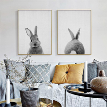 Fashion bunny Posters And Prints Wall Art Canvas Painting Pictures Kids Room Decor Decoration
