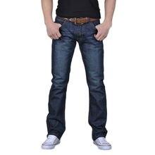 Homens da moda Outono Casual Denim Algodão Hip Hop Soltas Trabalhar Longas Calças Jeans Calças Jeans Hombres Джинсы Мужские # T2G