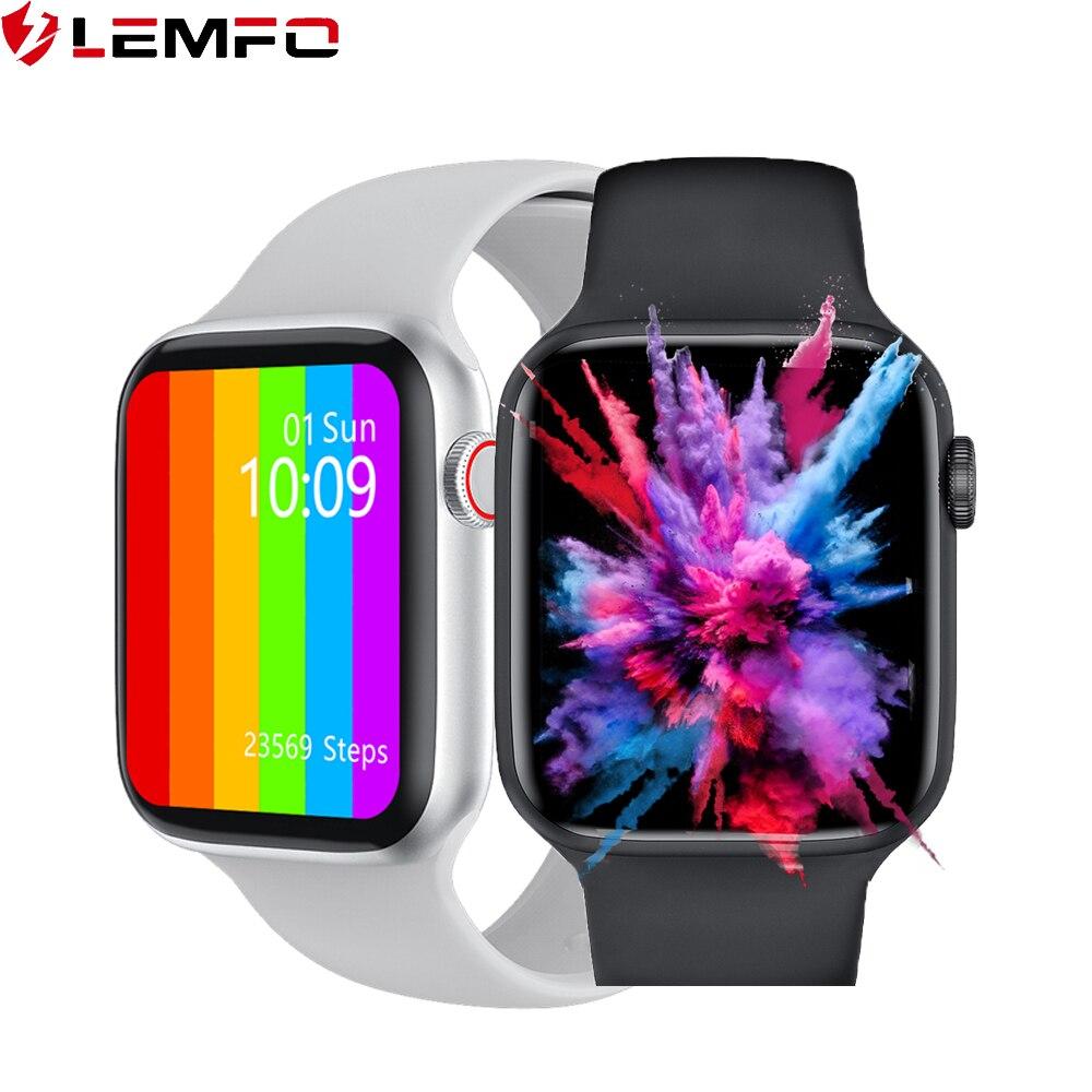 lemfo iwo w46 smartwatch men women 1 75 inch screen Custom dial ECG body temperature smart watch better than iwo 12 pro W26