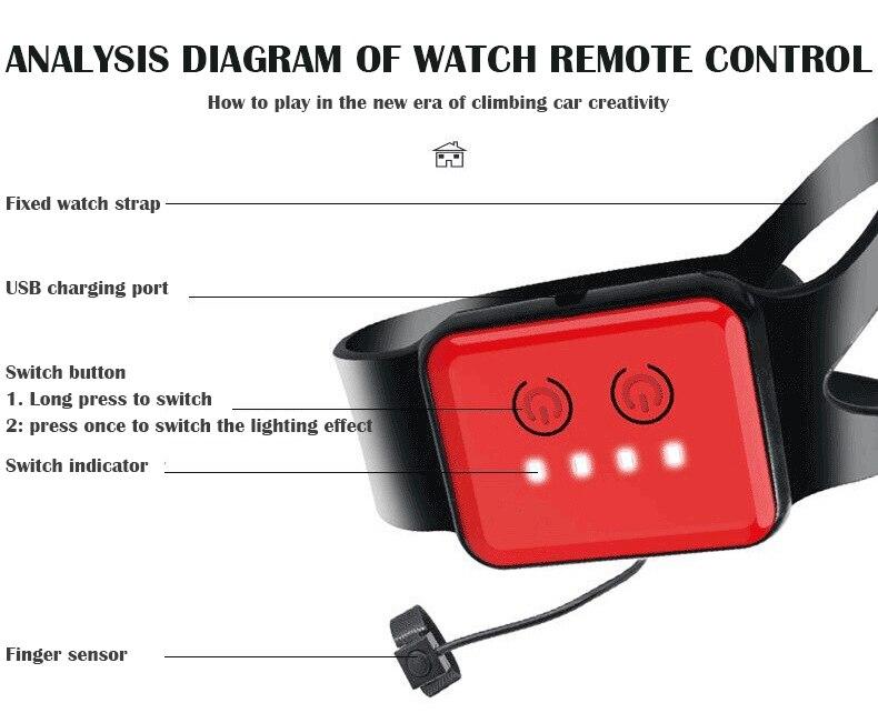 torção relógio de carro de controle remoto