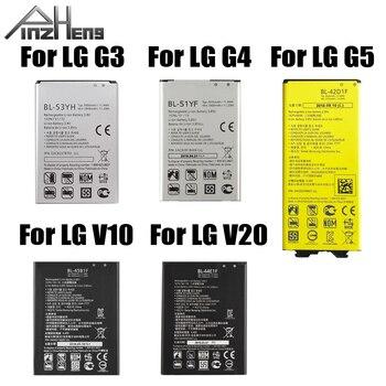 PINZHENG Original Phone Battery For LG G3 G4 G5 V10 V20 Battery BL-53YH BL-51YF BL-42D1F BL-45B1F BL-44E1F Batteries фото