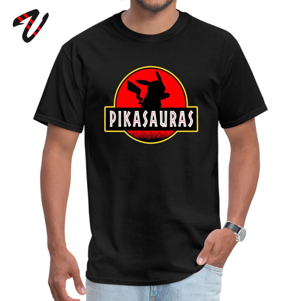 Pokemon Detective Pikachu T-Shirts Jurassic Park Naruto Japanese Samurai Men Tops T Shirt Pure Cotton Funny Tees