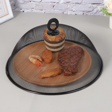 Plate-Cover Stainless-Steel Round-Style Kitchen 1pc Dining-Table Anti-Fly-Mosquito Black