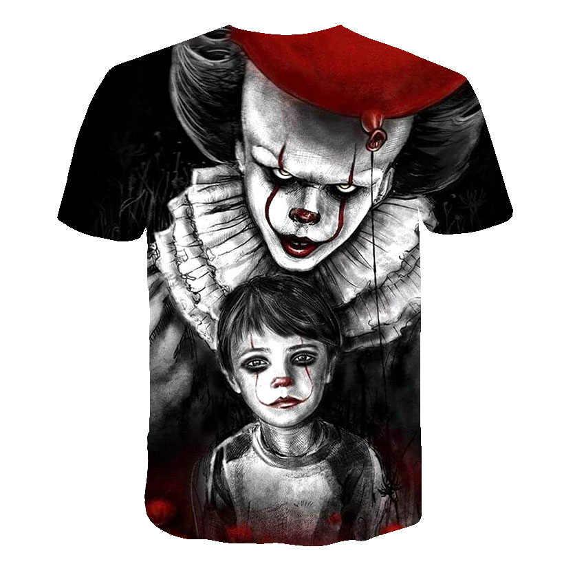 2019 Vendita Calda Joker 3D Stampato T Shirt Uomo Donna SI Pagliaccio Film Horror casual Divertente T-Shirt Hip Hop Streetwear T Shirt Tee Magliette e camicette