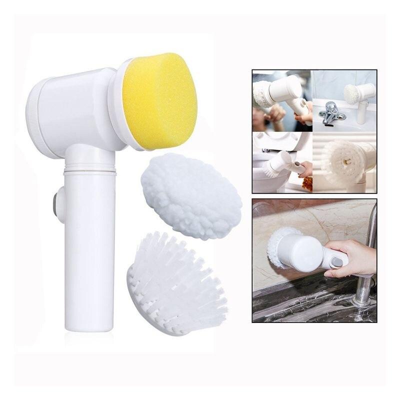 5 in 1 Magic Brush Nylon Bathtub Electric Multi-functional Household Tools Bath Kitchen Cleaning Brush Window Cleaner