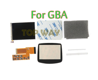 For GBA Console Adjustable Brightness OEM 10 Levels High Brightness IPS Backlight LCD for Nintend GBA Console Backlit LCD Screen