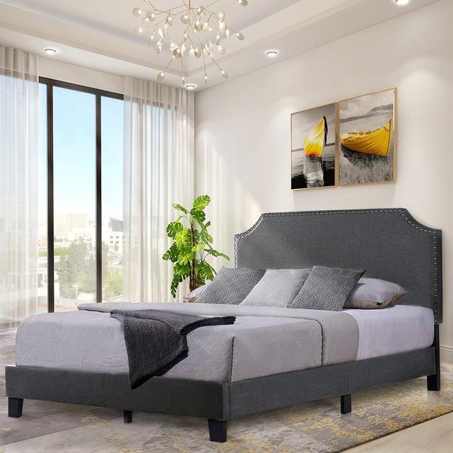 King Size Platform Bed Frame  2