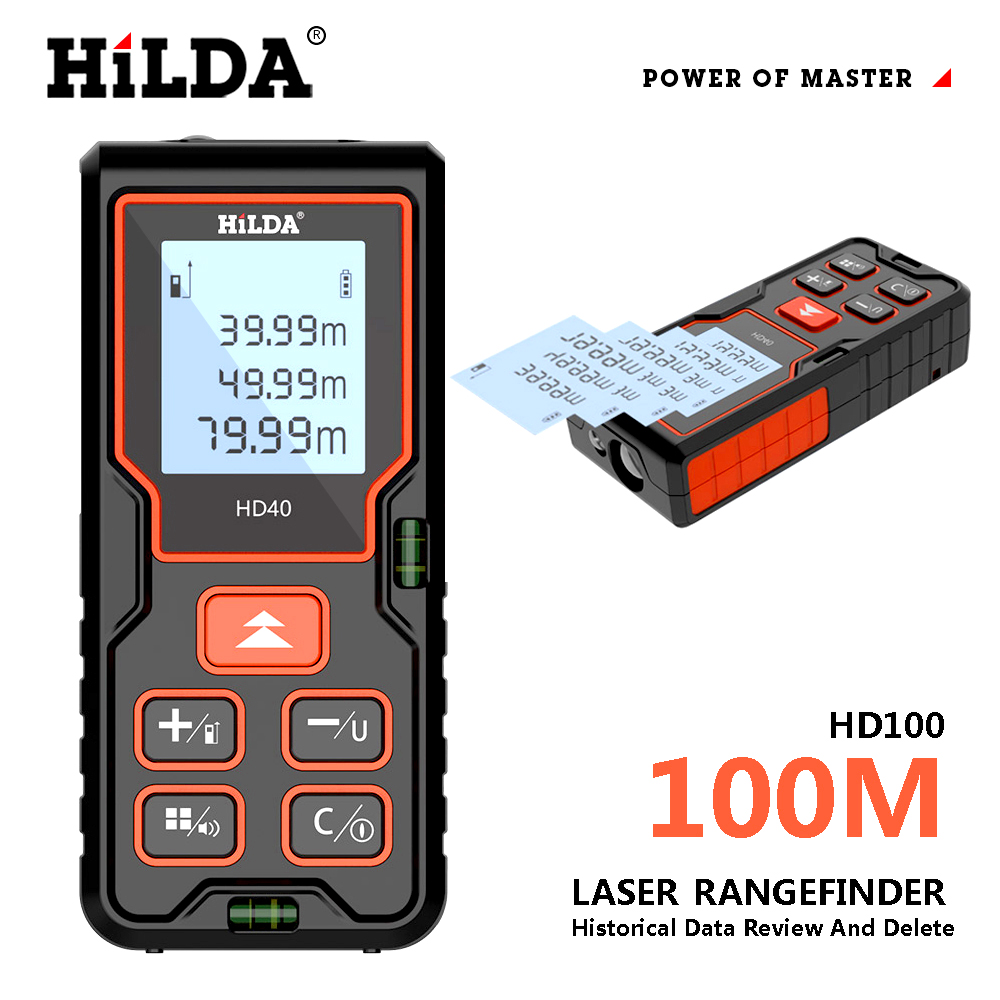 HILDA лазерный дальномер, дальномер 100 м, строительный измеритель, линейка лазерных лент, устройство rulerfinder