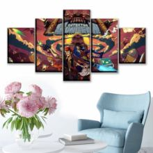 Canvas HD Prints Painting Home Decor One Set 5 Pcs Modular Picture Game Enter the Gungeon Poster Living Room Wall Art Framework(China)