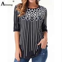 Plus größe 4xl 5xl Elegante Frauen Neue Sommer Mode print Top Halbe Hülse Elastizität Weibliche T-Shirt Beiläufige Lose Damen T hemd
