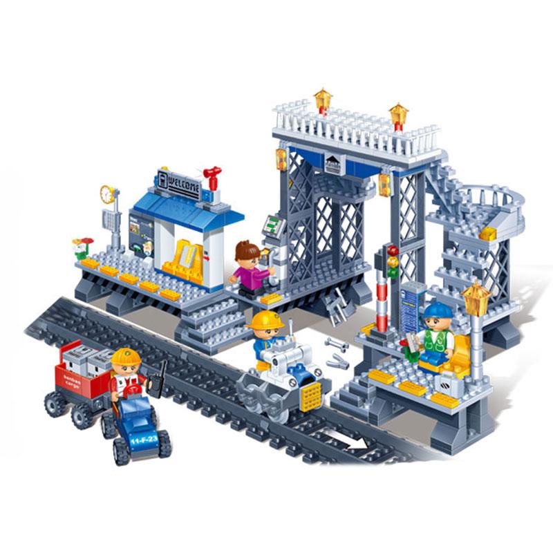 Bricolage Mini construction Nano blocs enfants cadeaux jouets éducatifs modèle drôle 8227, orbital, gare, série de la ville, blocs BanBao