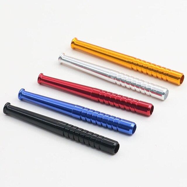 Случайная портативная металлическая трубка для снорклинга трубка для носа Snuffer Bullet 78 мм