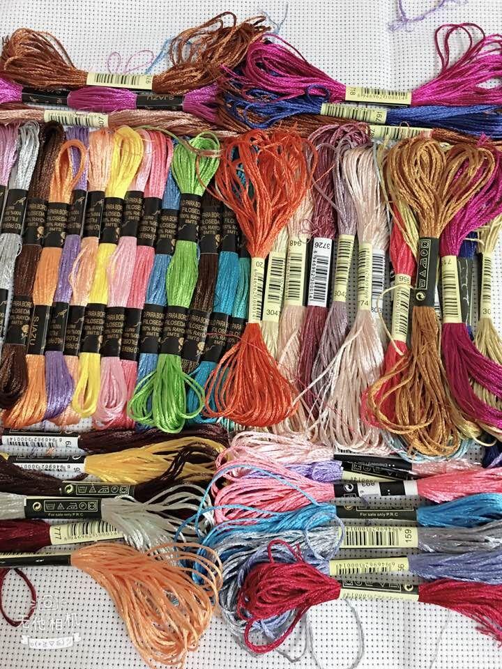 oneroom silk threads 28 pcs radom Colors Mercerized Bright Shiny Effect Cross Stitch Thread Embroidery Threads Waving DIY Crafts|Floss|Home & Garden - AliExpress