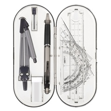 Compasses-Set Math-Ruler Geometry Drawing Protractor Plastic for Students High-Quality