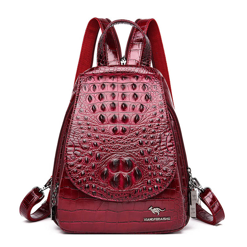 Women Leather Backpacks High Quality Sac A Dos Rucksacks For  Girls Vintage Bagpack Solid Ladies Travel Back Pack School  FemaleBackpacks