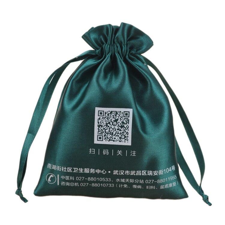 Gloss Luxury Satin Storage Bag Shoe Clothes Home Dust Bag Wig Cosmetic Jewelry Drawstring Bag Reusable Shopping Bag Custom Logo