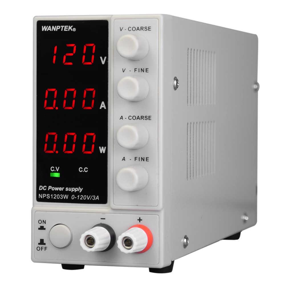 Haute précision réglable Mini alimentation NPS1203W 0-120V 0-3A commutation alimentation cc 3 chiffres affichage LED