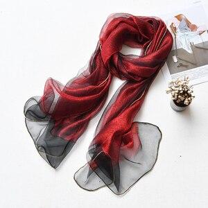 Image 2 - 2019ผ้าพันคอผ้าไหมผู้หญิงShinnyผ้าพันคอFoulard Femmeผ้าคลุมไหล่ผ้าไหมผ้าพันคอผ้าพันคอHijabผ้าพันคอชายหาดPoncho