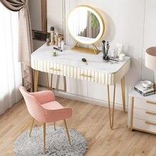 Luz da mesa de vestir luxo moderno pequeno apartamento de armazenamento um quarto mesa de maquiagem único estilo ins penteadeira mesa de vaidade