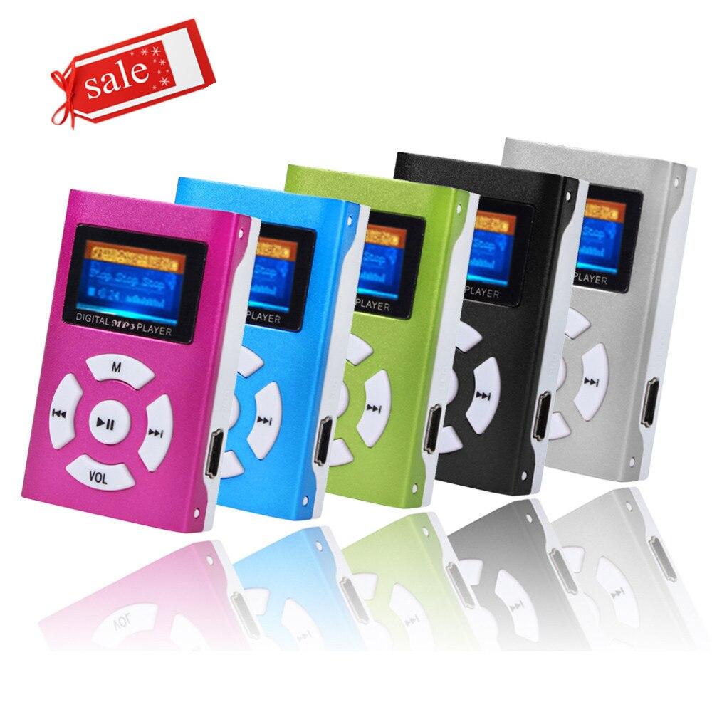 Мини-mp3-плеер CARPRIE с USB-клипсой и ЖК-экраном, поддержка карт Micro SD TF 32 ГБ, MP3-плеер с мини-памятью, в комплект не входят