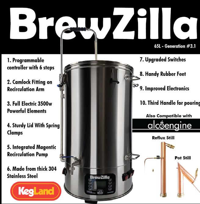 All In One Brewery BREWZILLA 65L - GEN.3.1