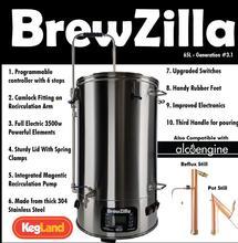 Cervecería todo en uno BREWZILLA 65L   GEN.3.1