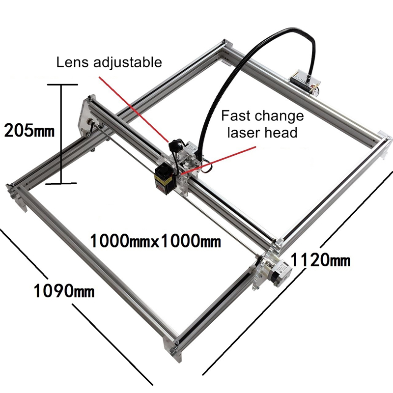 Blue Violet M1 Mini Laser Engraving Machine 500mw 1000mw 2500mw 10W Laser Height Adjustable Carving Size 100*100 CM