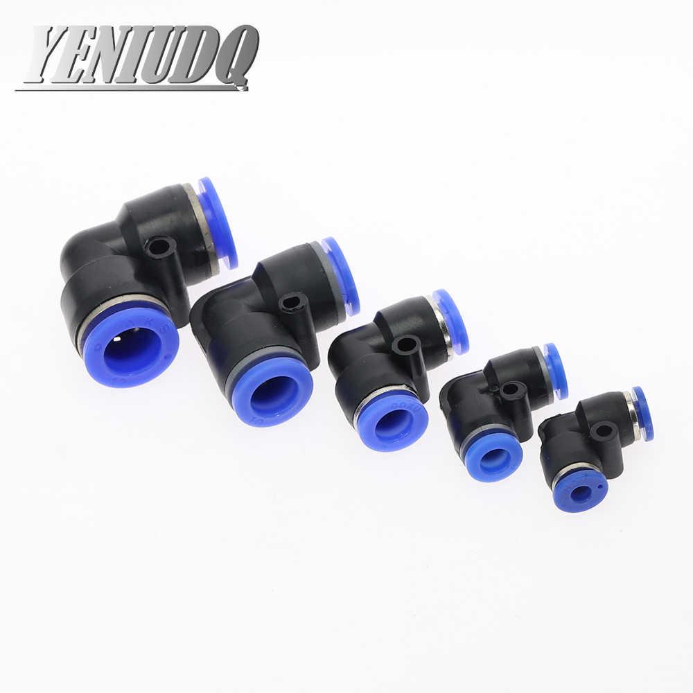 """PV """"L şekilli dirsek 4mm-16mm OD hortum boru tek dokunuşla hava pnömatik konnektör bağlantı parçaları plastik gaz hızlı bağlantı"""