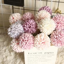 Sztuczne kwiaty prawdziwy dotyk dmuchawiec sztuczne rośliny plastikowe kwiaty do dekoracji wnętrz Multicolor wesele sztuczne kwiaty #55 tanie tanio CN (pochodzenie) other Bukiet kwiatów Na Dzień Matki Z tworzywa sztucznego